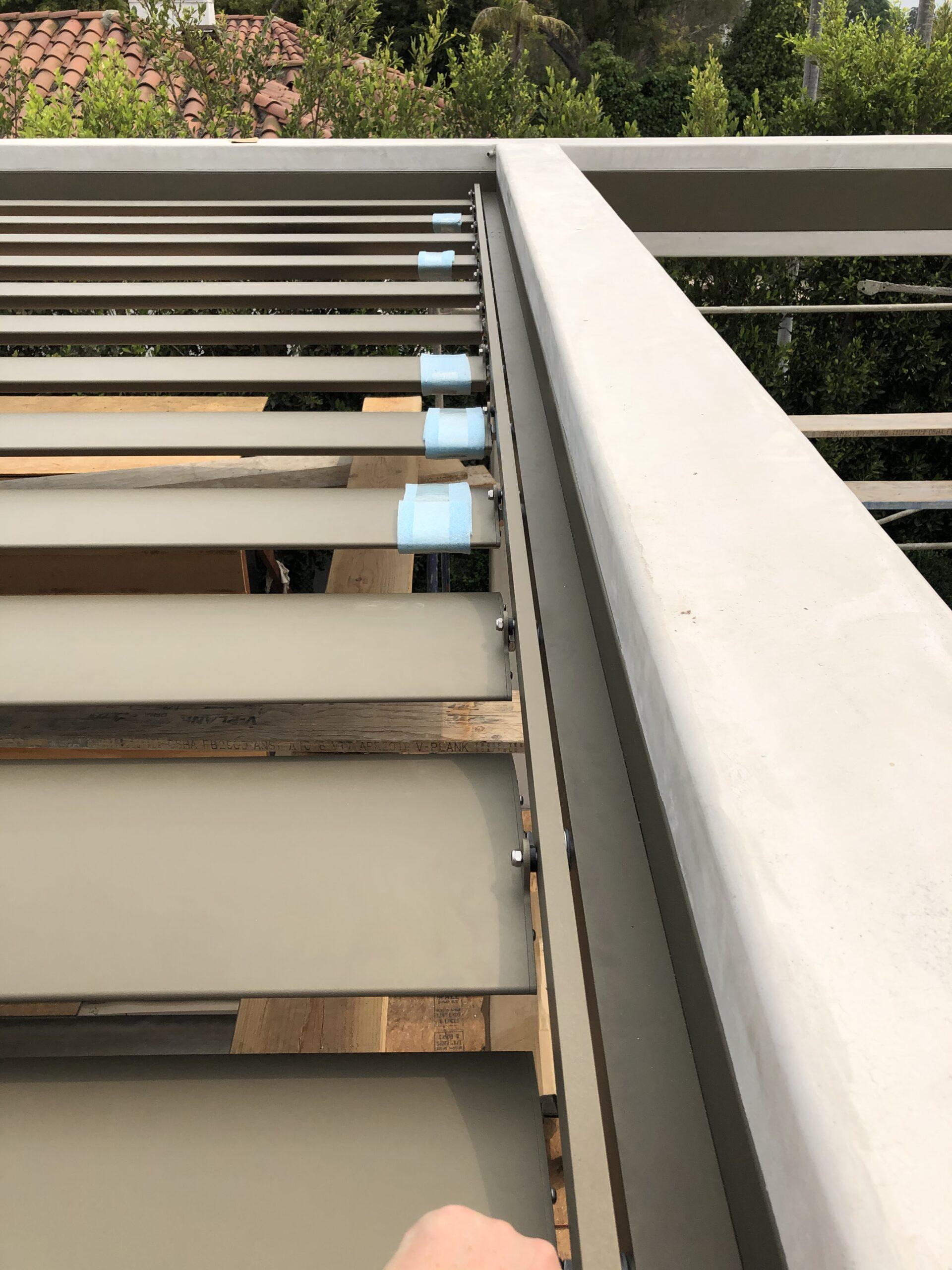 Villa Rockingham - Large slat louvers installed - 1