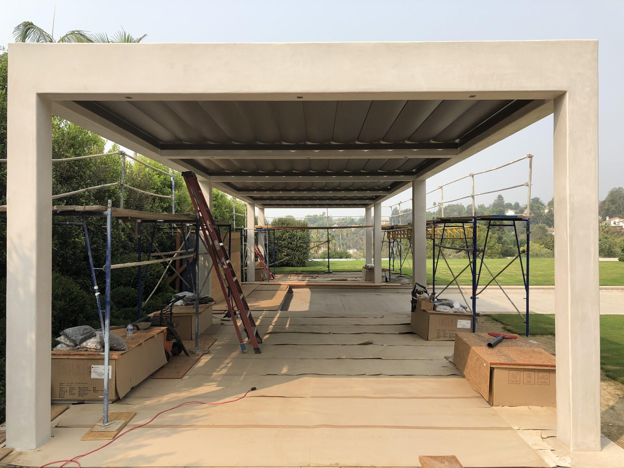Villa Rockingham - Large slat louvers installed -2