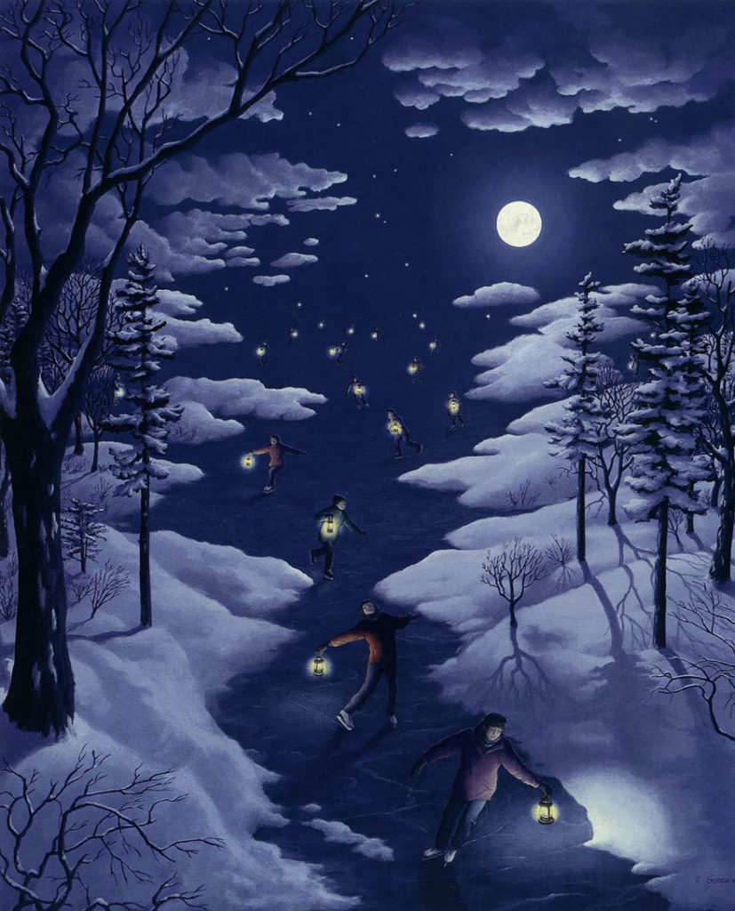 Nocturnal Skating by Rob Gonsalves