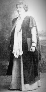 Mabel Atkinson in her graduation gown, University of Glasgow, 1900 (Photo: Killie Campbell Africana Library)