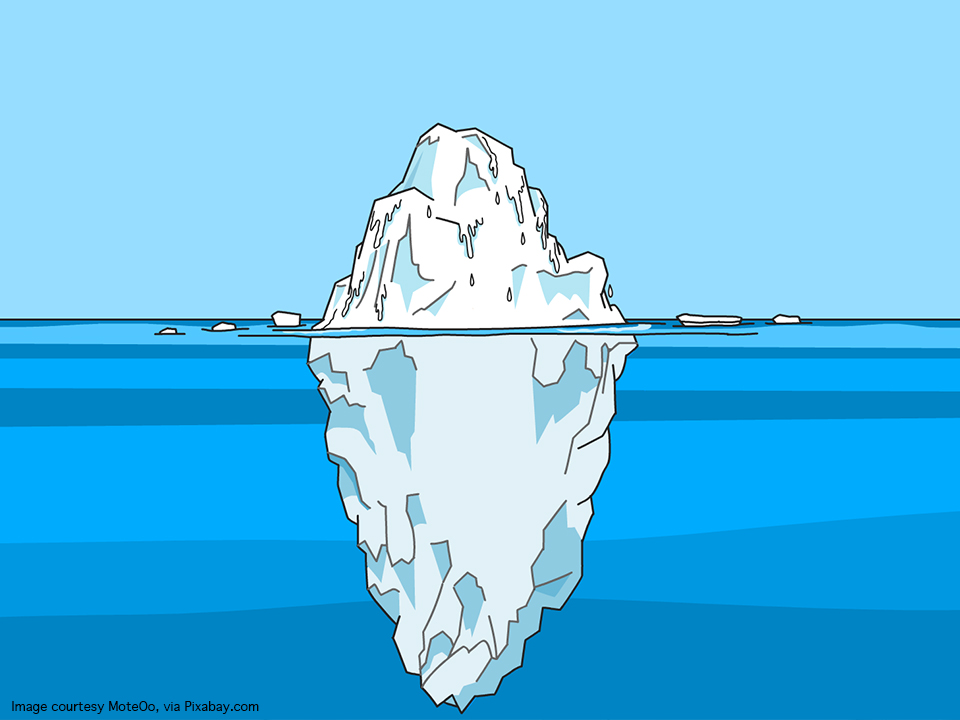 People are like icebergs
