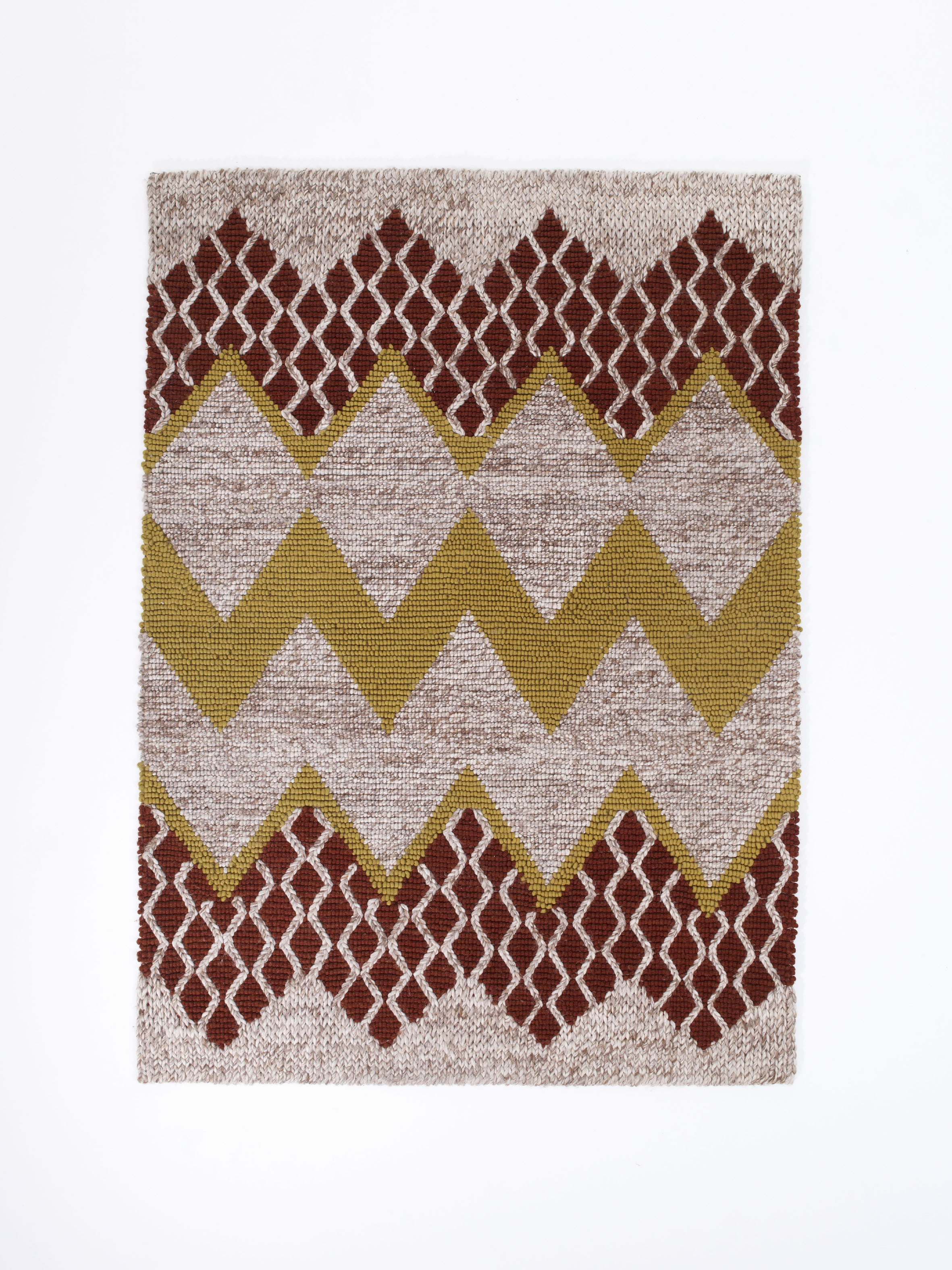 Fairisle Rug In Nautral Brown By Donna Wilson Scp Above 1