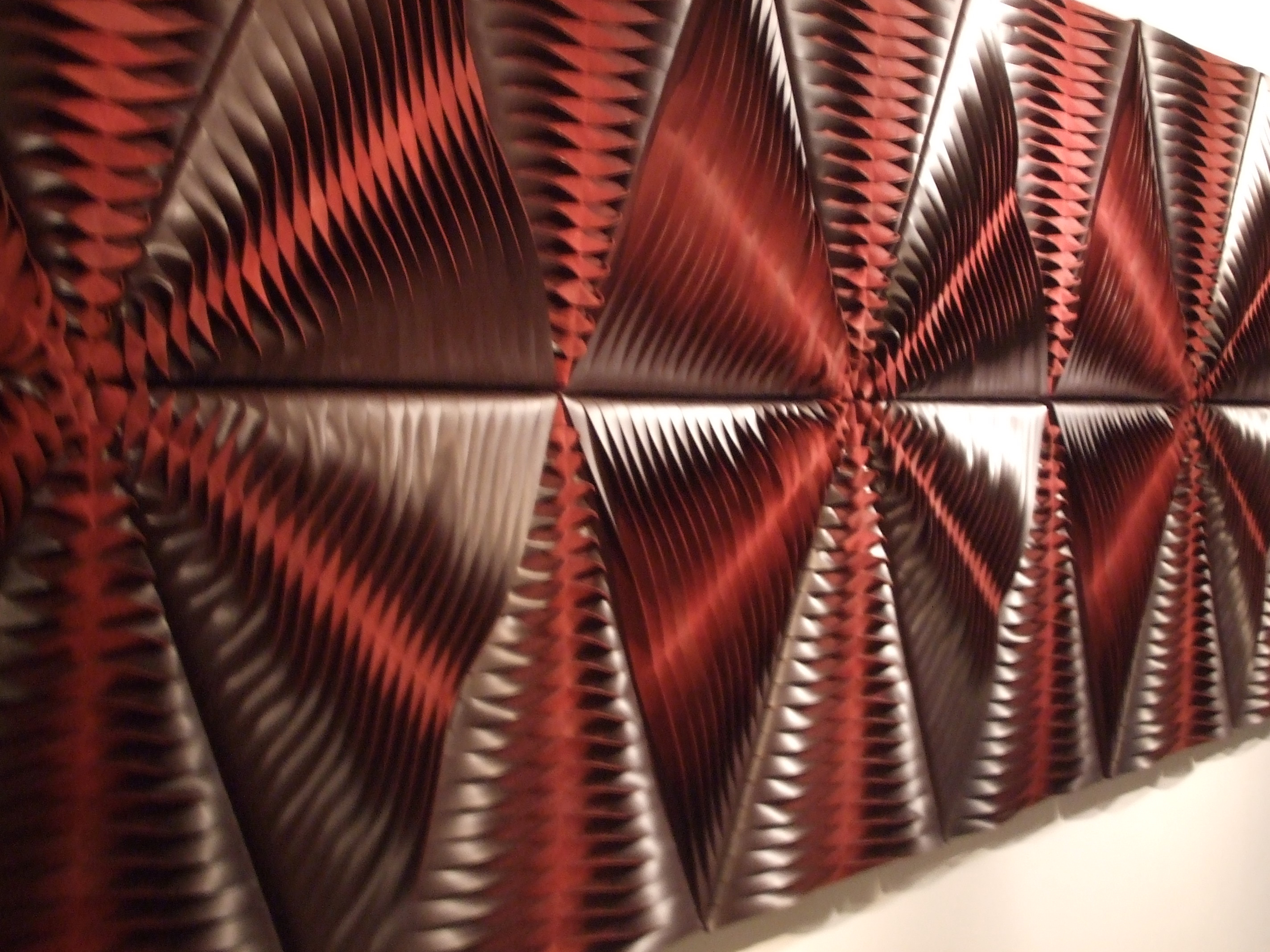 """""""Leaf"""" wool and leather acoustic wall panel by Anne"""
