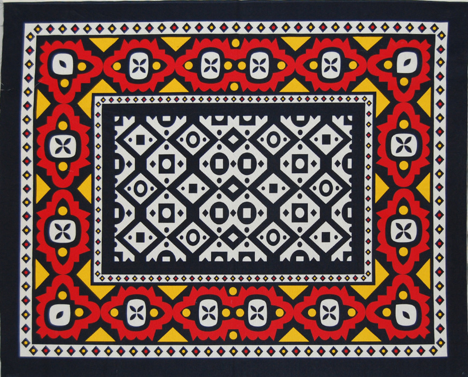 Samakaka printed cotton, Angola, early 21st century