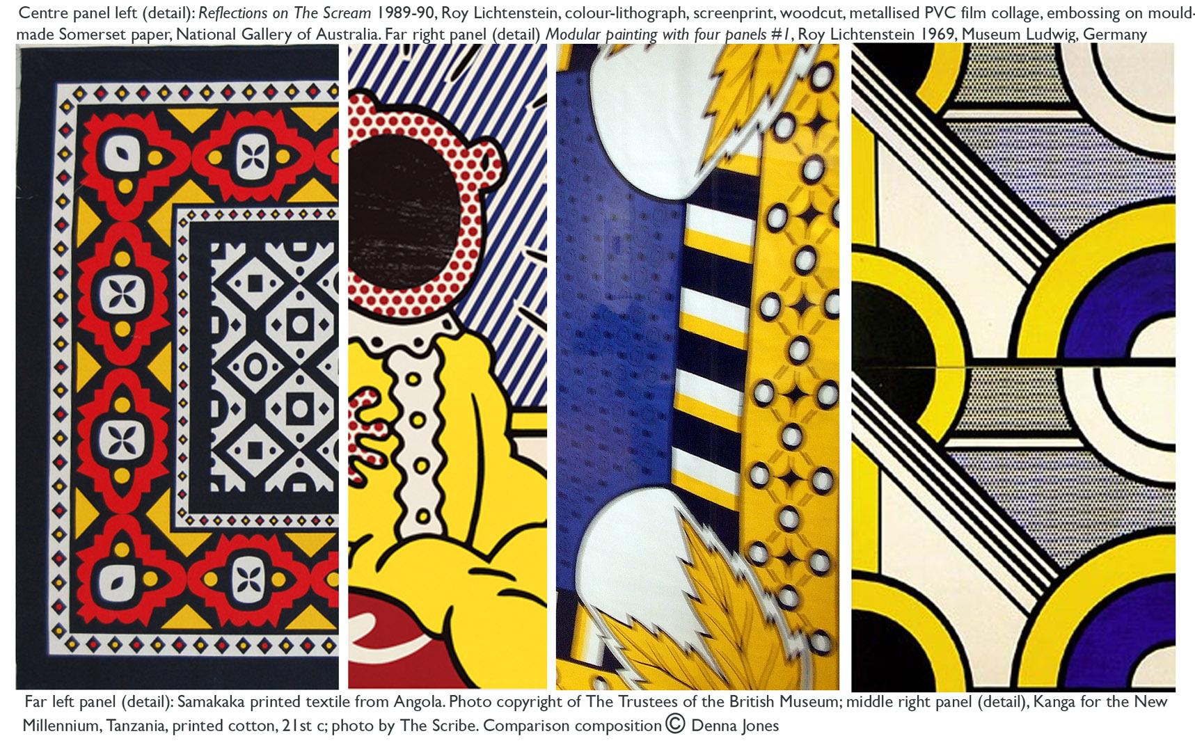 African textiles & Roy Lichtenstein