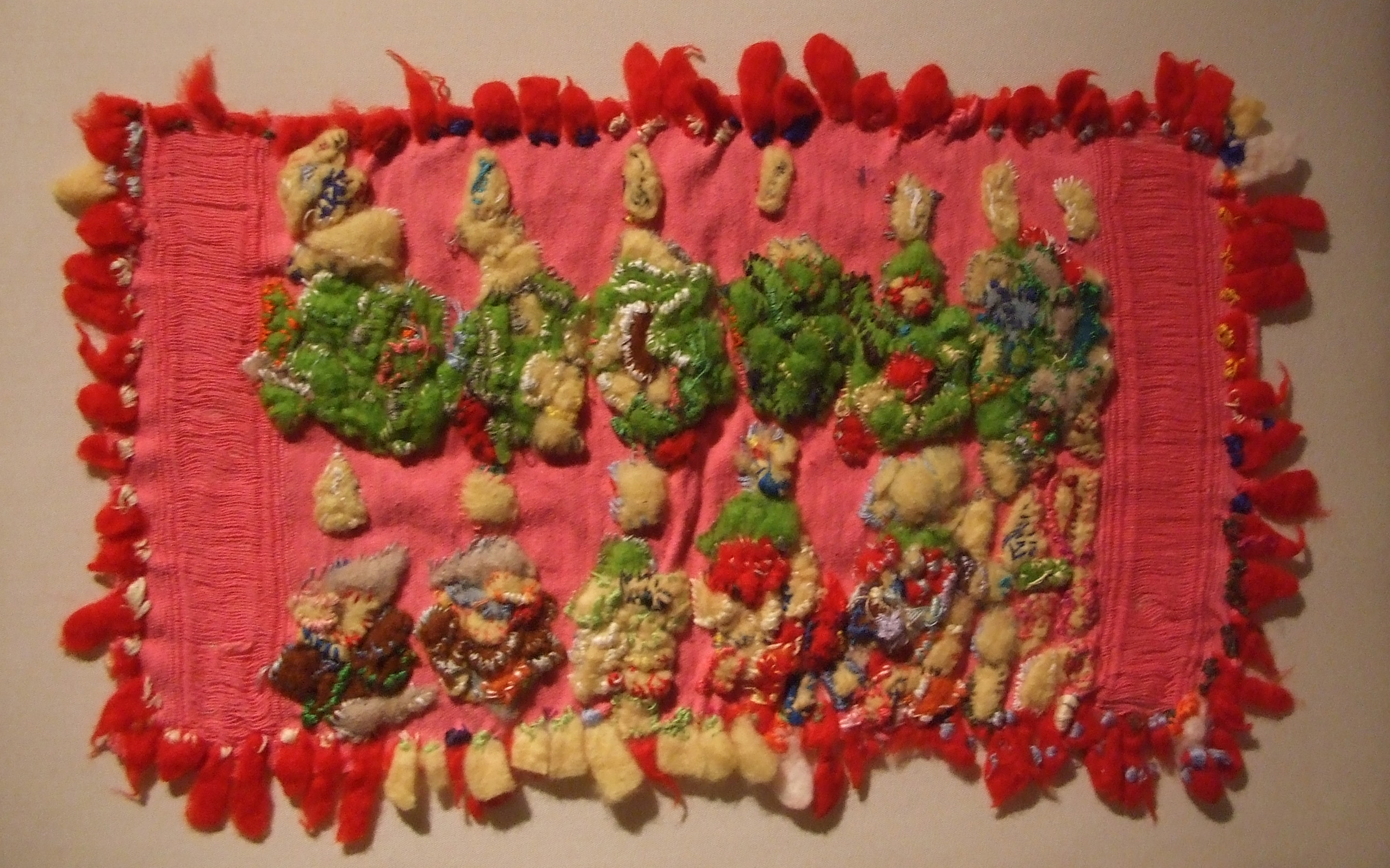 Norie Shukumatani Hyogo, Embroidered Strawberry, 2011, Embroidery thread, felt and cotton