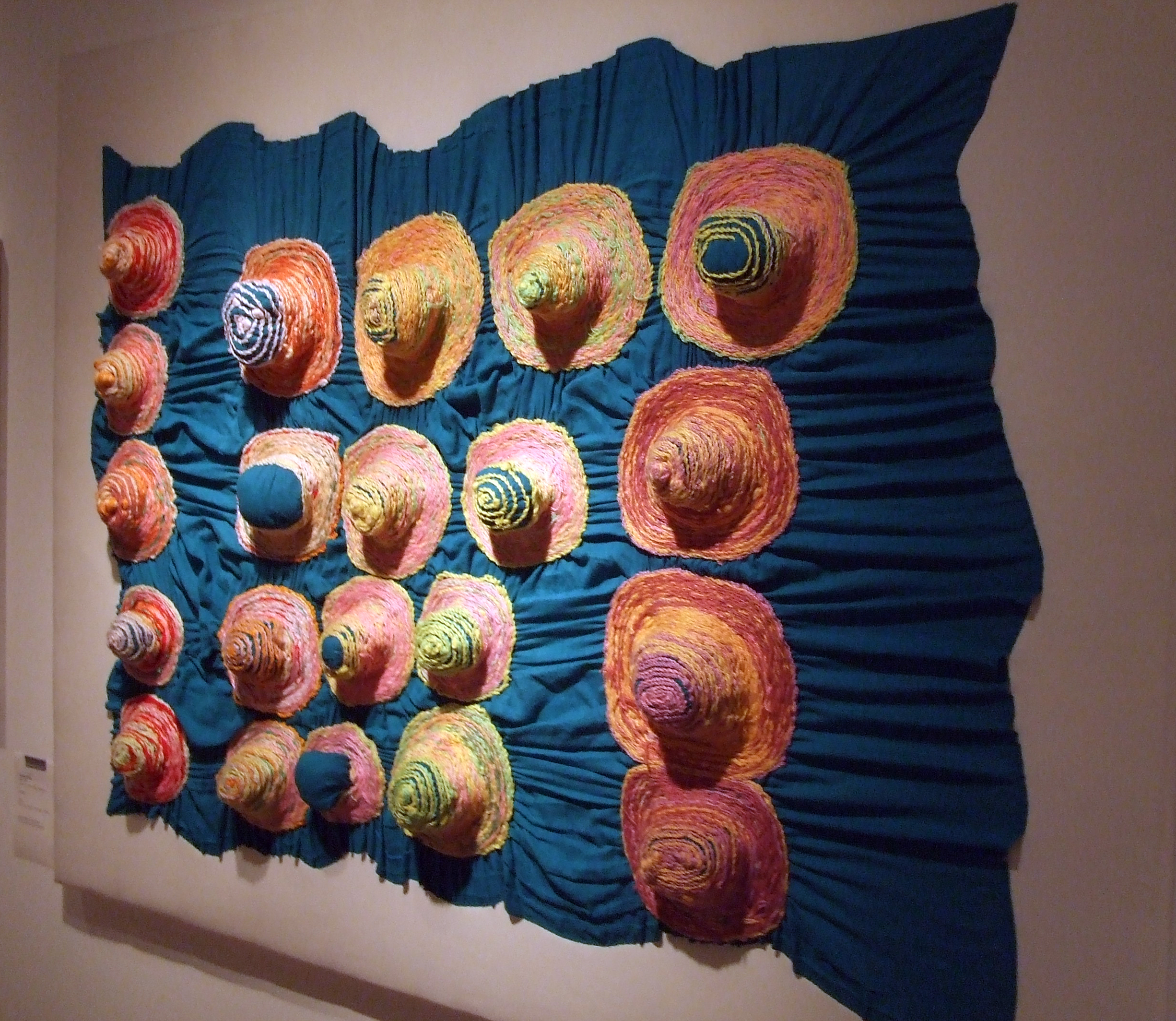 Yumiko Kawai, Circles, 2009, wool, acrylic yarns, cotton. Social Welfare Corporation Yamanami Atelier