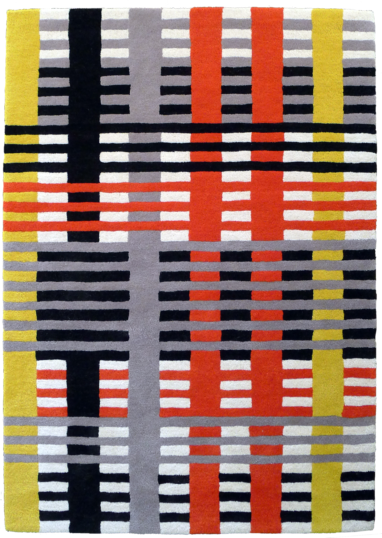 Anni Albers (1899-1994) Study Rug. Initially conceived as a 1926 cotton and silk wall hanging Hand-tufted rug, wool. Produced in association with the Josef and Anni Albers Foundation Edition of 150