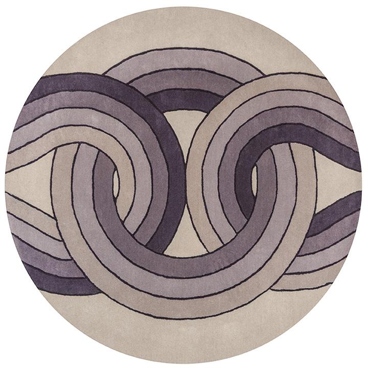 Lara Bohinc (b. 1972), Solar Eclipse. Hand-tufted rug, wool, diameter: 1.5 m. Edition of 150