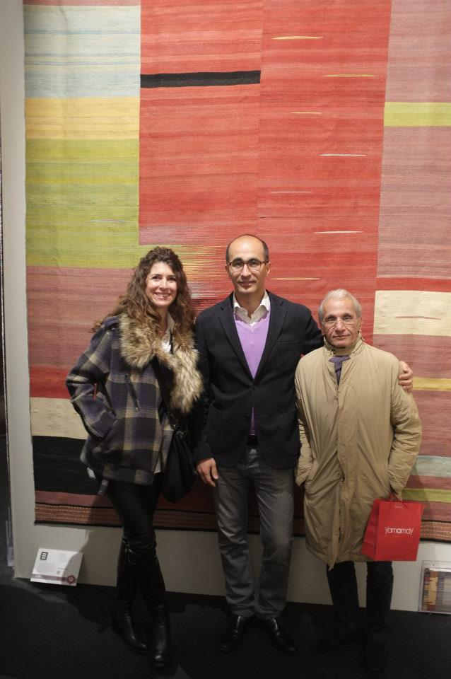 Maryam and Mohsen from Edelgrund with their rug Alasht