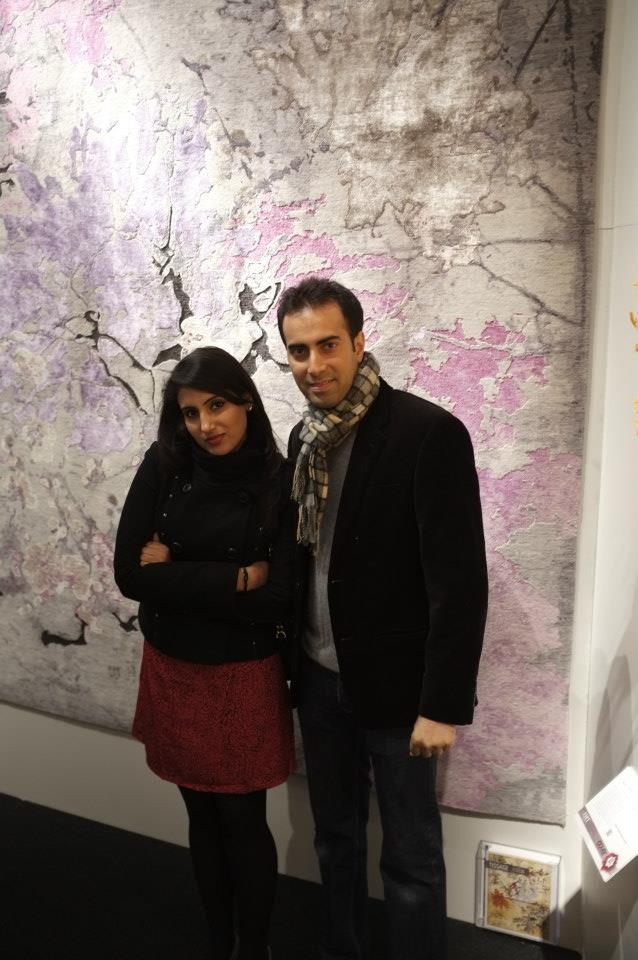 Mr and Mrs Kapoor of Tissage and their rug Grace