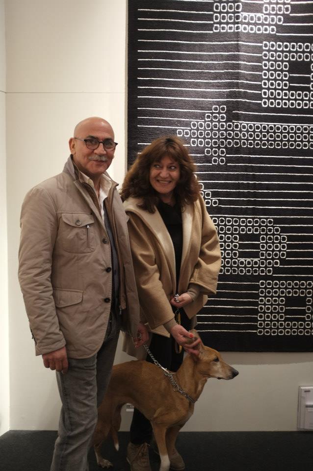 Behrouz and Ati Kolahi from Stile BK and their rug Emoticon