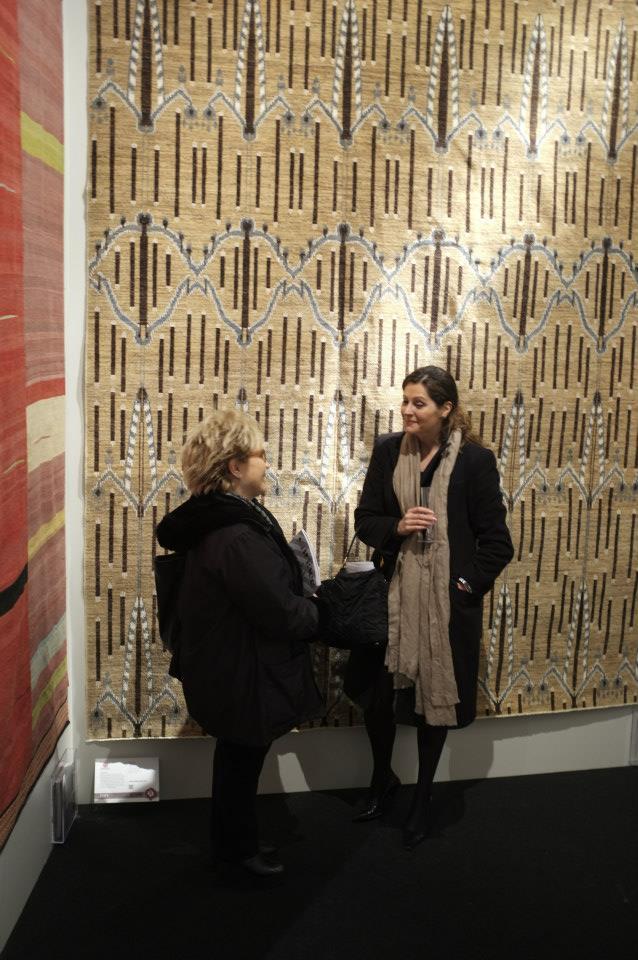 Esti Barnes and Amadi's carpet, Gulsom, in the background