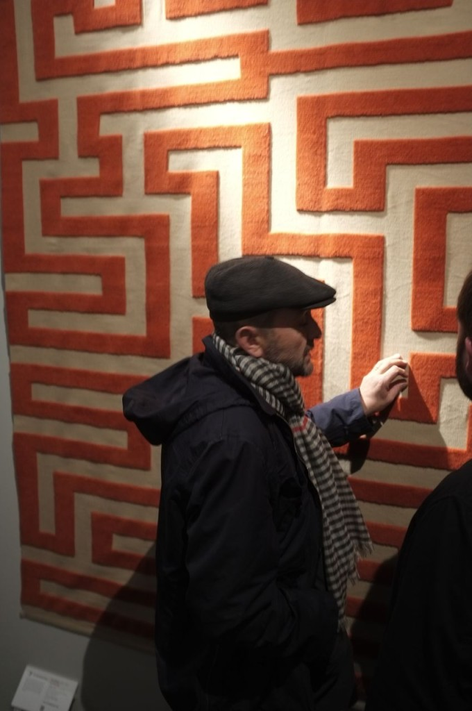 Christopher Farr's Red Meander (by Anni Albers) - and very tempting to touch!