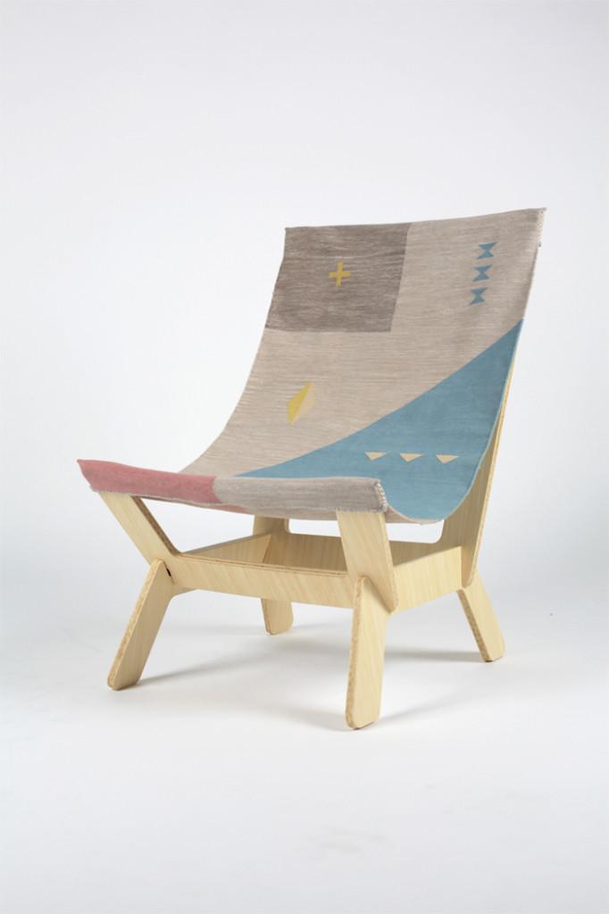 Pal Rodenius Dhurrie chair at Rosanna Orlandi Milan Design Week
