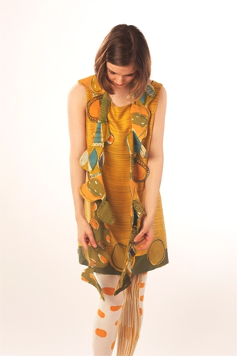 Amy Buchanan, Duncan of Jordanstone College of Art & Design, University of Dundee Bold hand printed textiles, neck pieces and dresses.