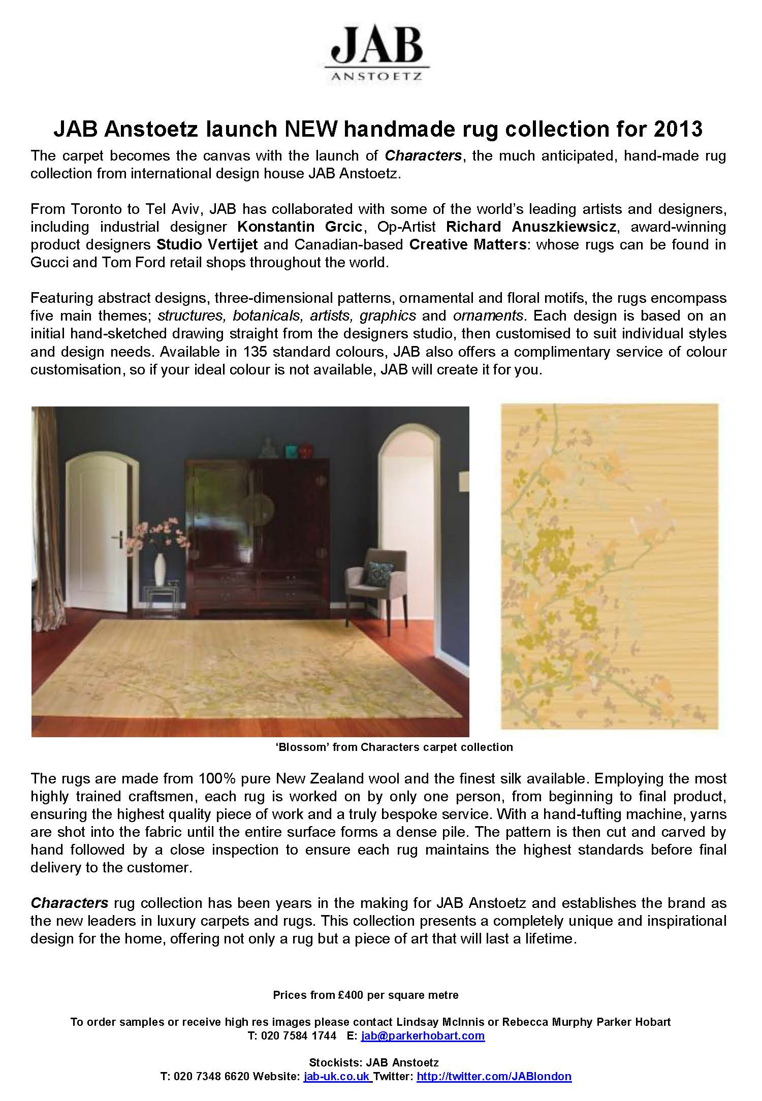 JAB Anstoetz launch NEW Characters rug collection_Page_1