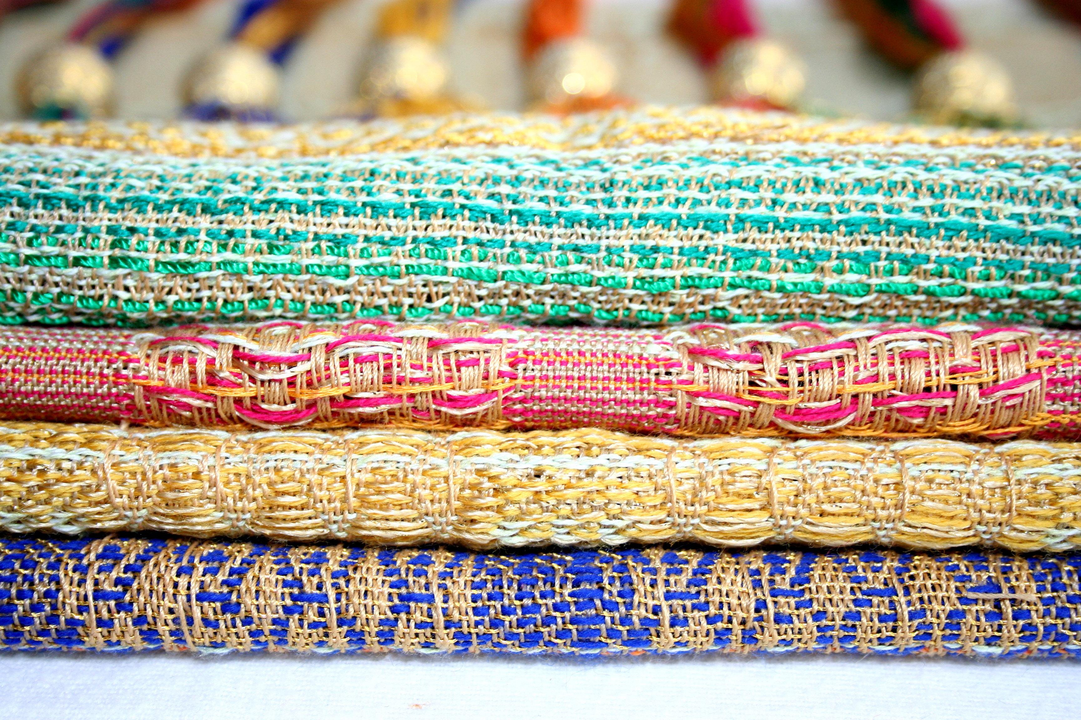 The Spirit of Colour By Jasveer Panesar Weave samples x4,
