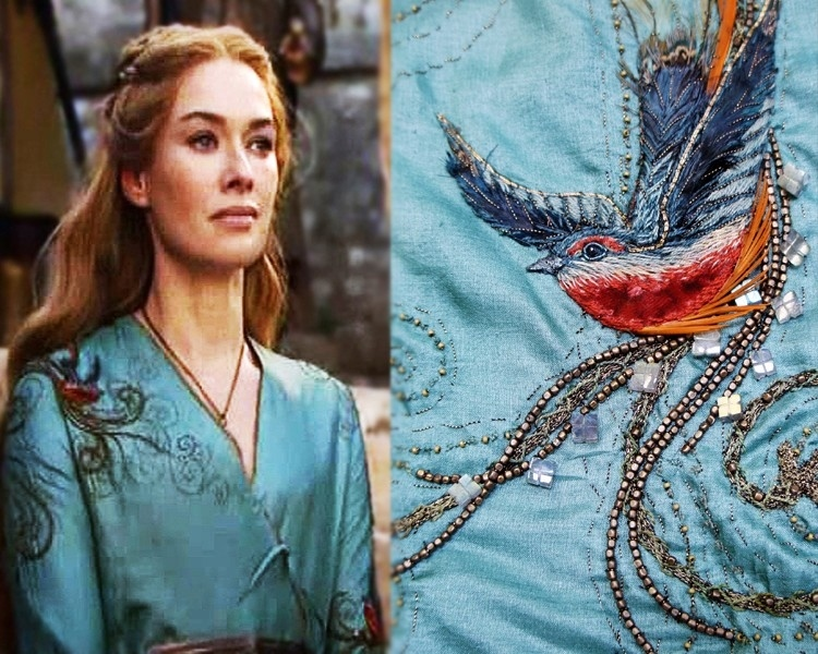Cersei Lannister game of thrones embroidery