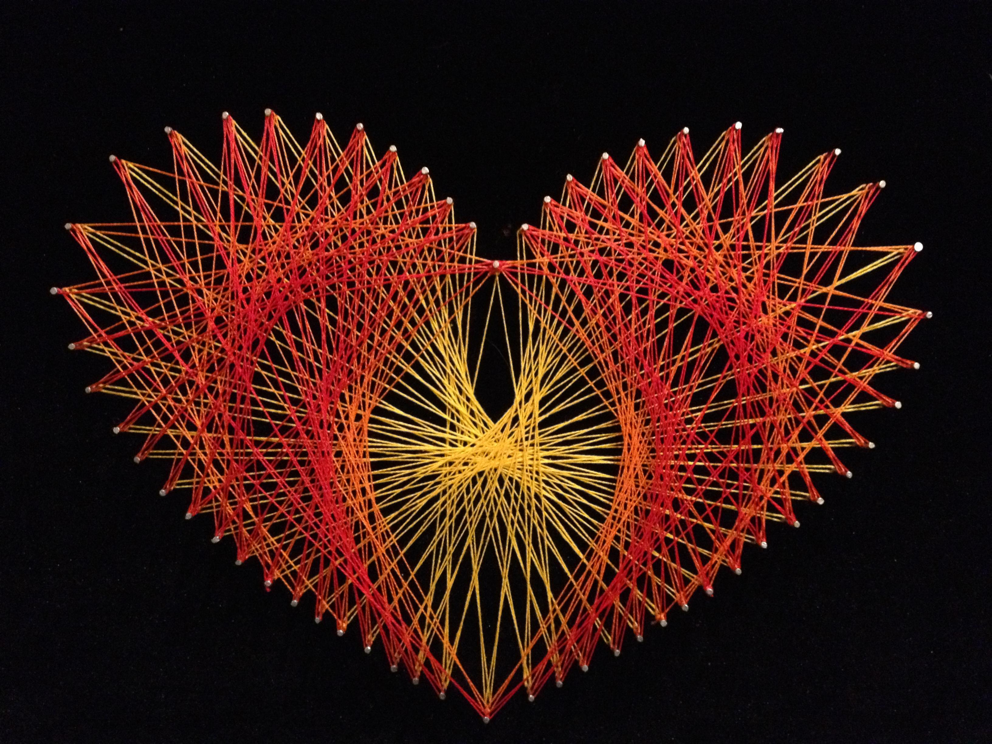 String Art Heart (2013) by Dar Tarrasch, Tel Aviv, Israel