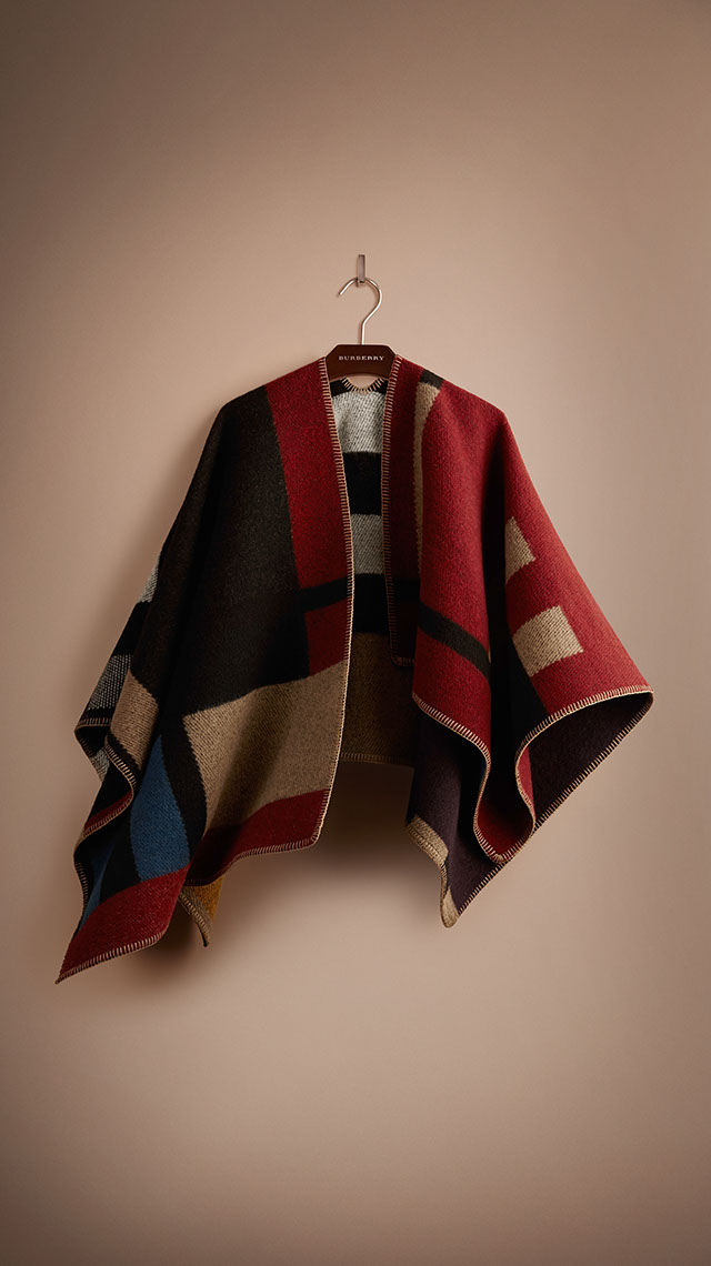 The Colour Block Check Blanket Poncho Burberry Prorsum A/W 2014 Collection