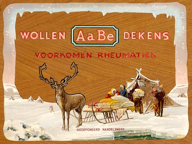 reindeer vintage wool blanket