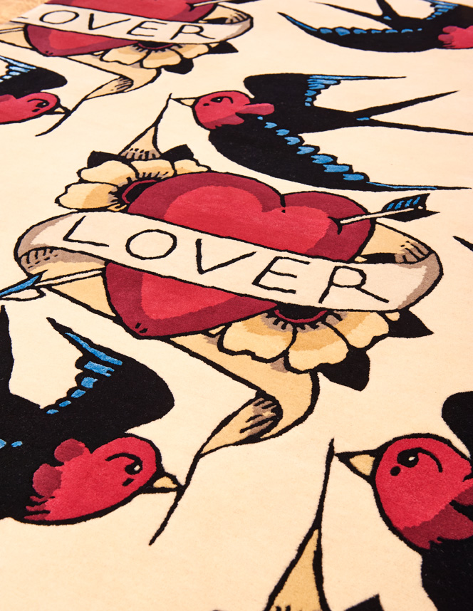 Tattoo rug by Rob Pybus for Floor_Story