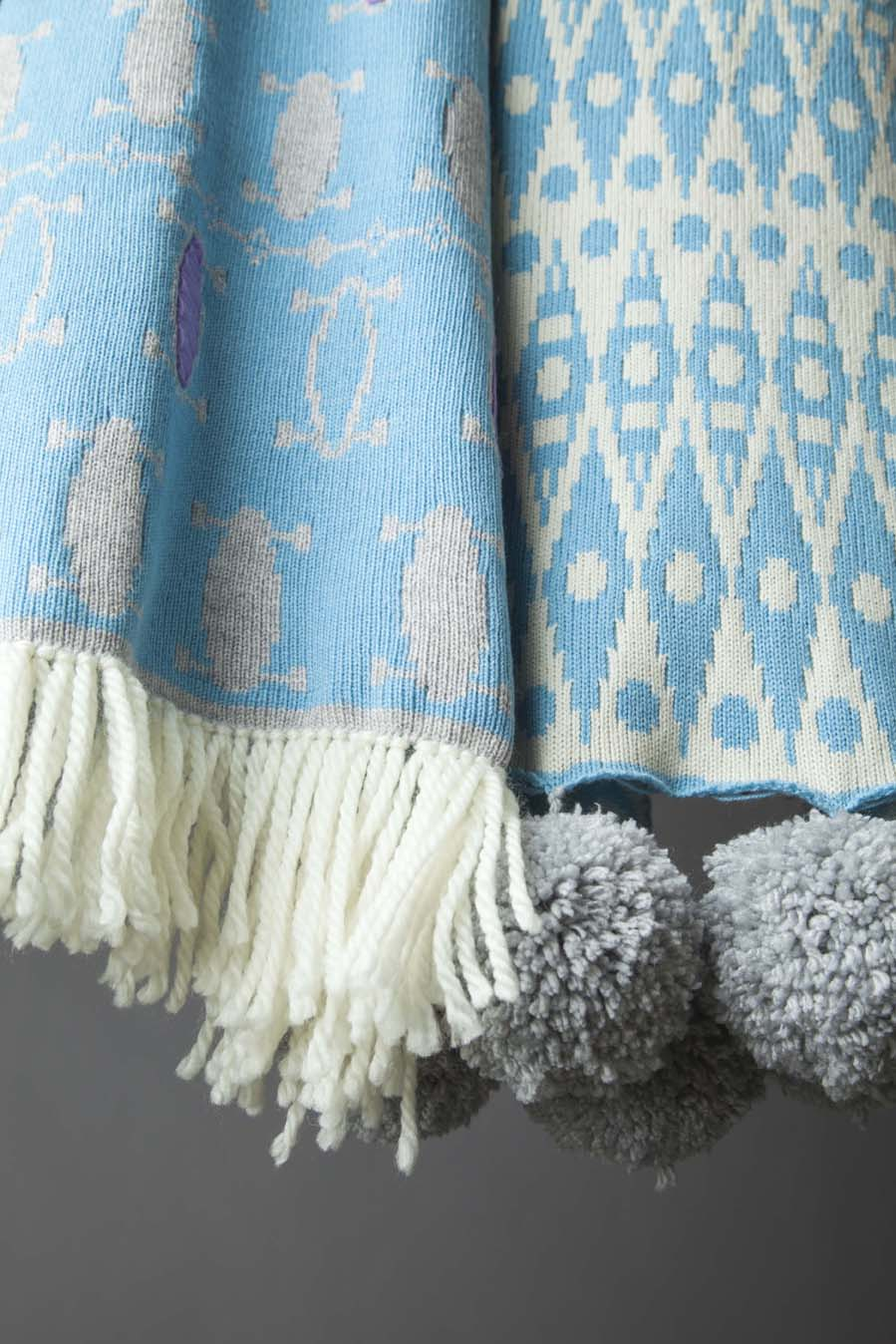 Emily Lewis Pom Pom wool throw