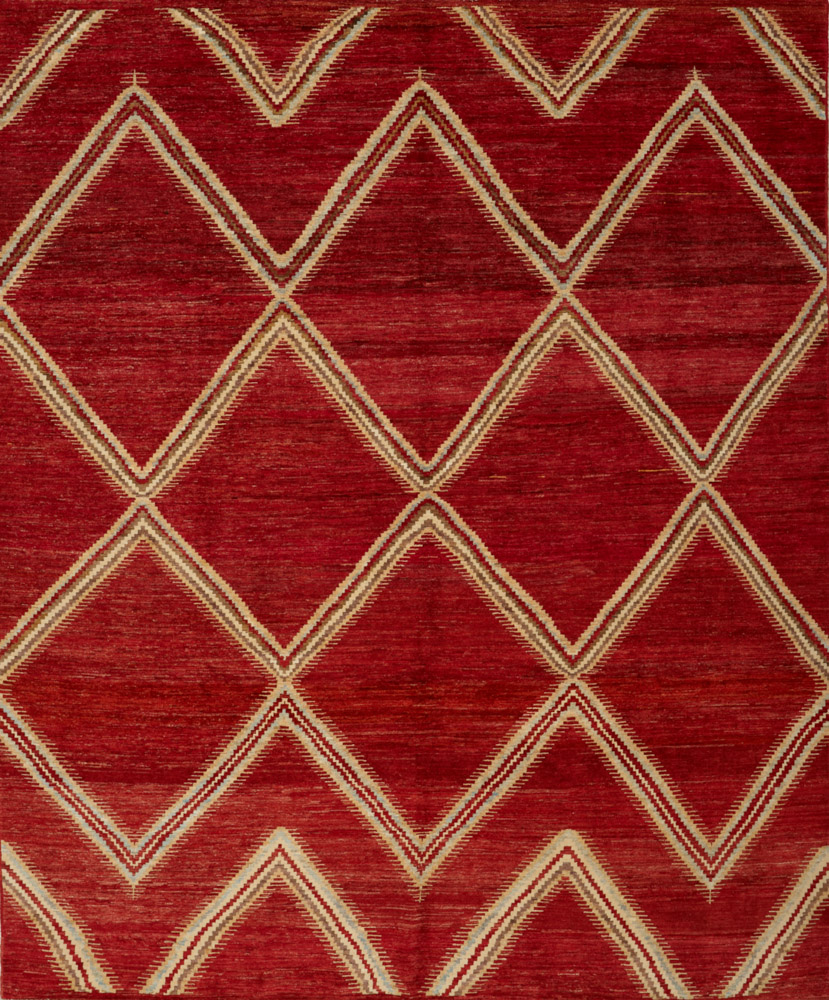 18847HM-Moroccan-8.2x9.9 afghan made mat camron