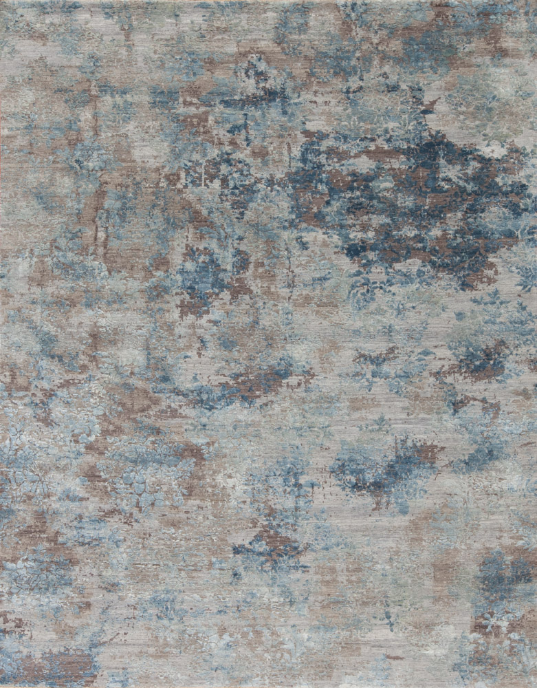 samad LEONARDO WOOL & SILK RIMINI BLUES 7.11 X 10.1