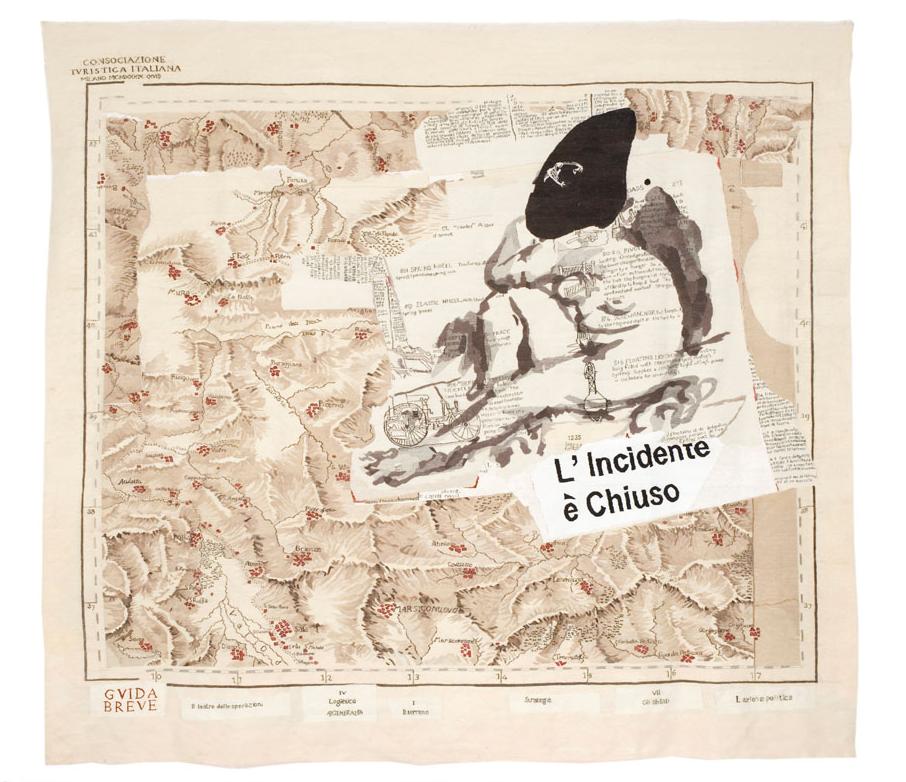 L'incidente è Chiuso, 2009, tapestry, 385 x 432cm, edition of 6