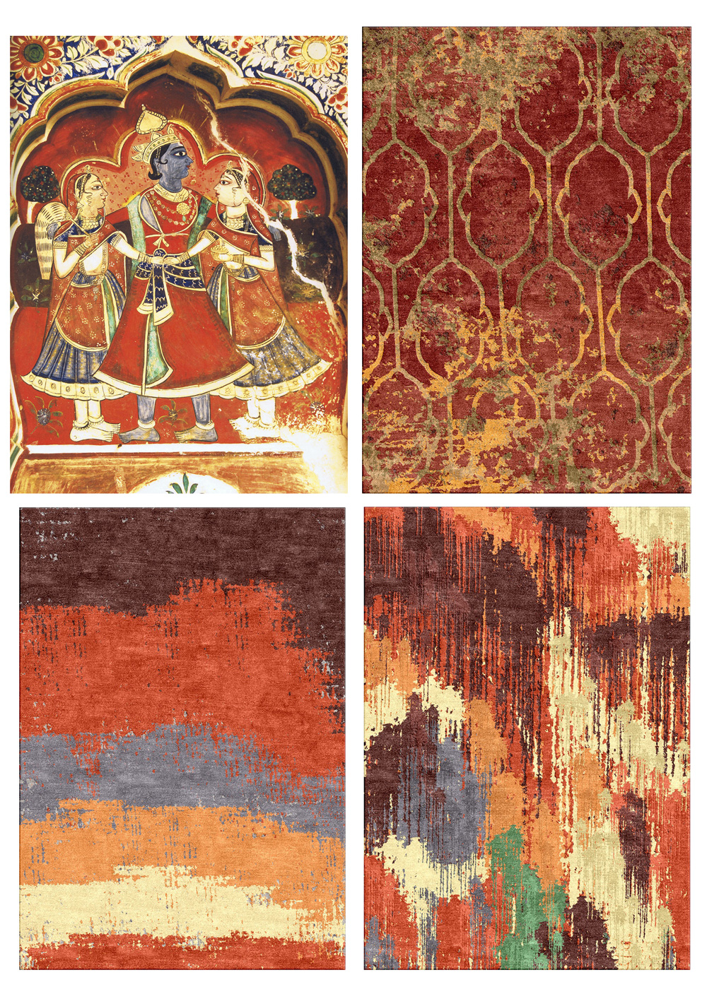 Sheefalika Misra, Painted Heritage collection for Jaipur, inspired by wall paintings at Morarka Haveli, Rajasthan