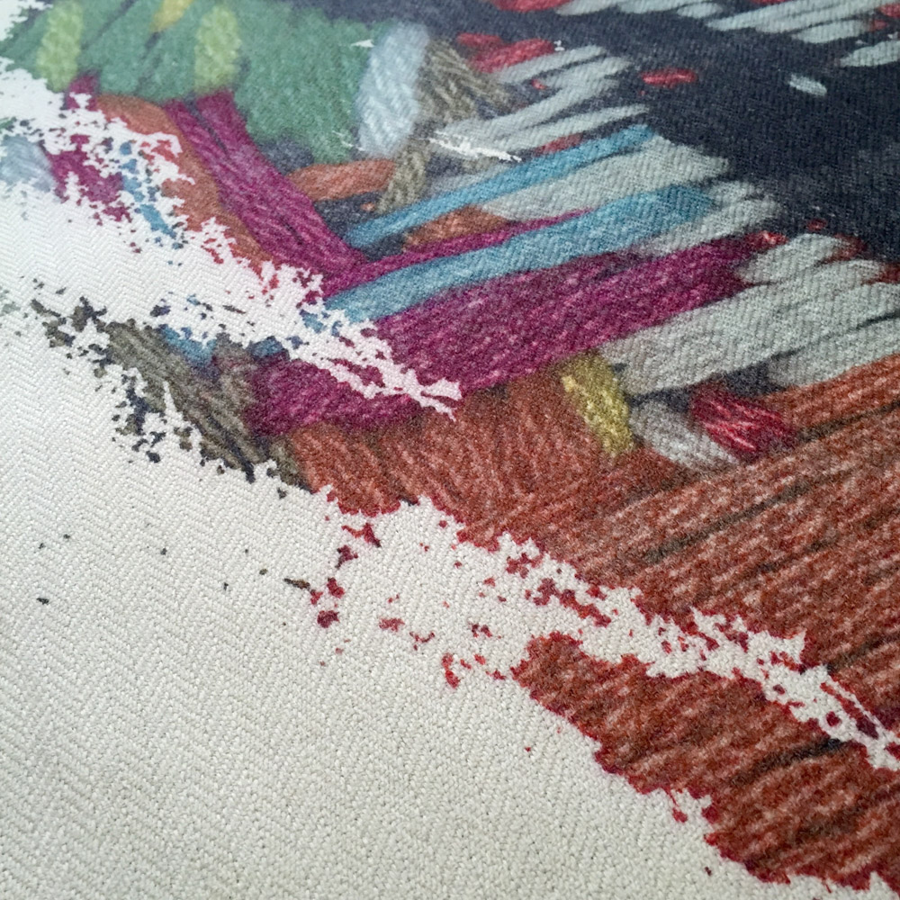 Digital Stitch (detail), 2015, Allistair Covell for the Cambrian Mountains Wool Challenge 2015