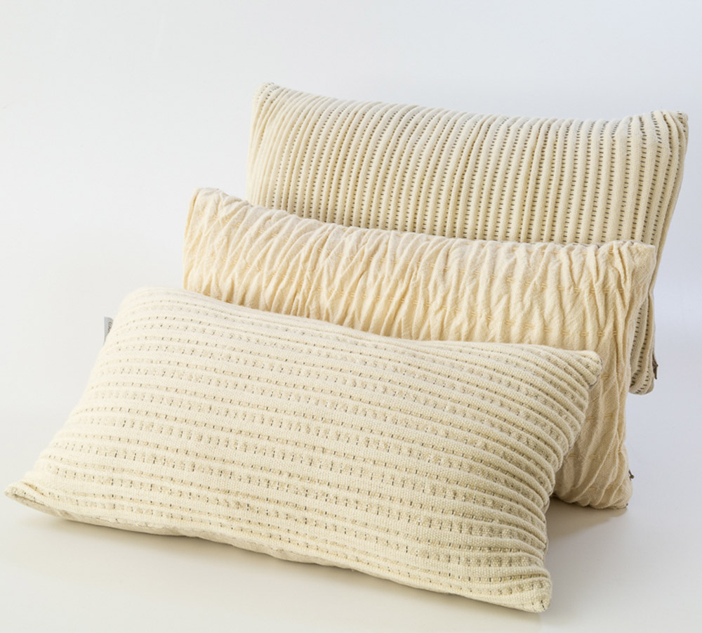 Cushions, Warped Textiles for the Cambrian Mountains Wool Challenge 2015