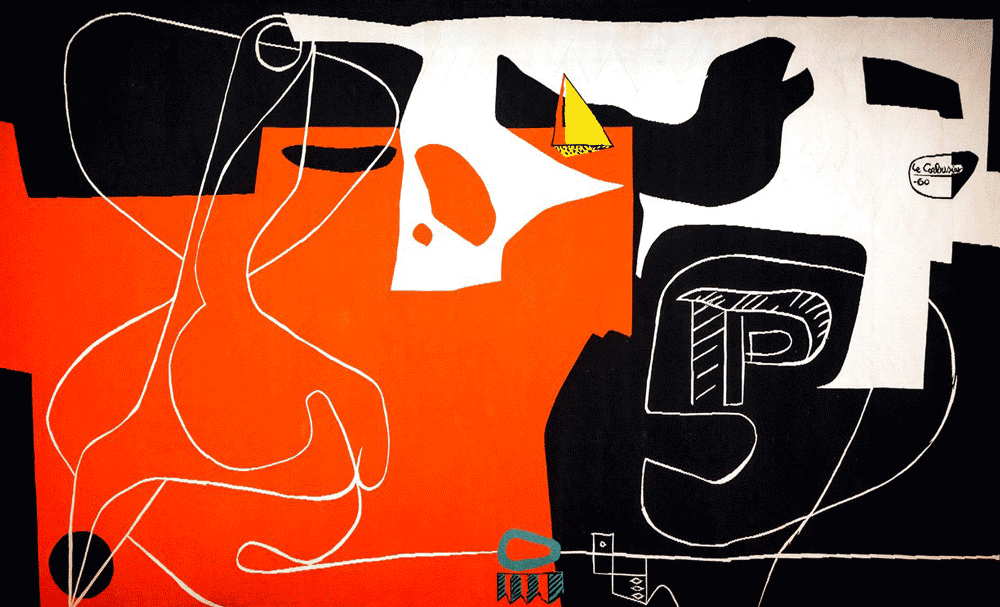 Les Dés Sont Jetés (The Dice Are Cast) tapestry by Le Corbusier