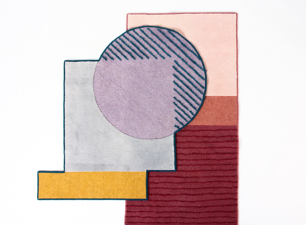 Isabel Webb rug, Colour Conversation Collection, Red Shed Graduates, Tent London, LDF 2016