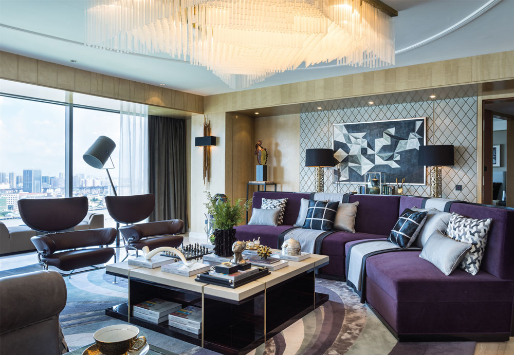 Interior from the Residential Over £1M winner of the SBID Awards, LSDCASA with the Vanke Showflat