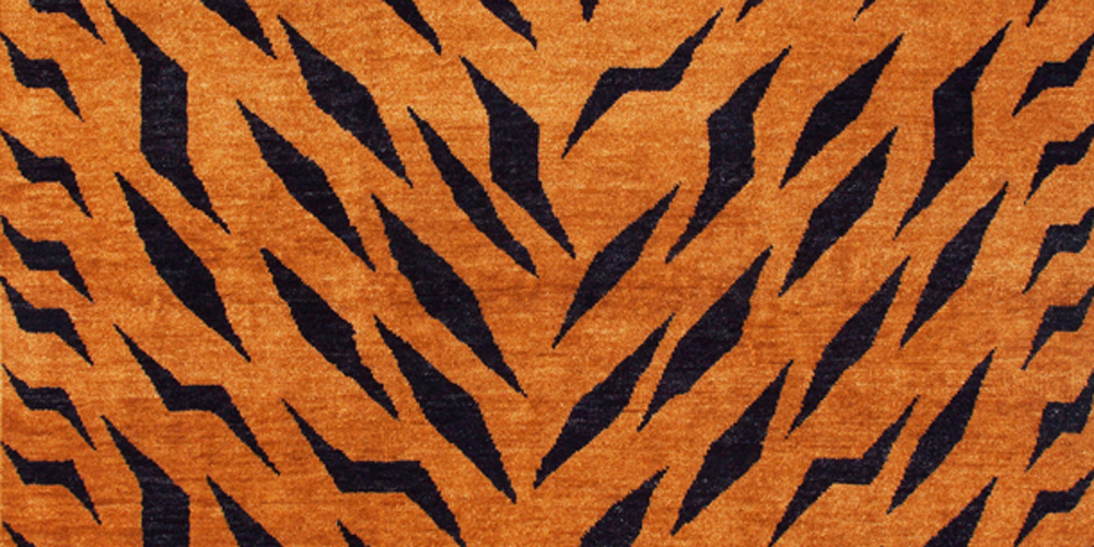 Tiger Lightning Bolt Rug (detail) by Studio Shamshiri for Christopher Farr, 1.83 x 3.96 m (6' x 13')