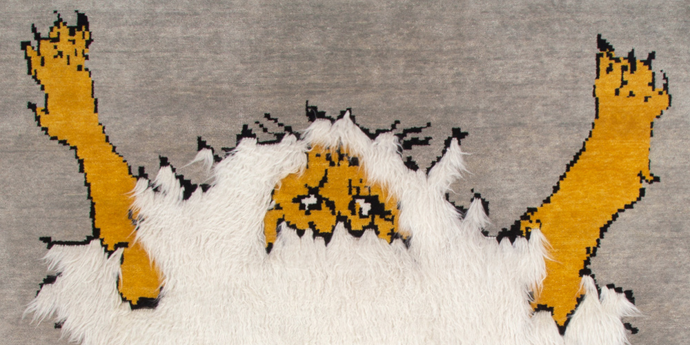 Lion Rug (detail) by Studio Shamshiri for Christopher Farr, 2.44 x 3.05 m (8' x 10')