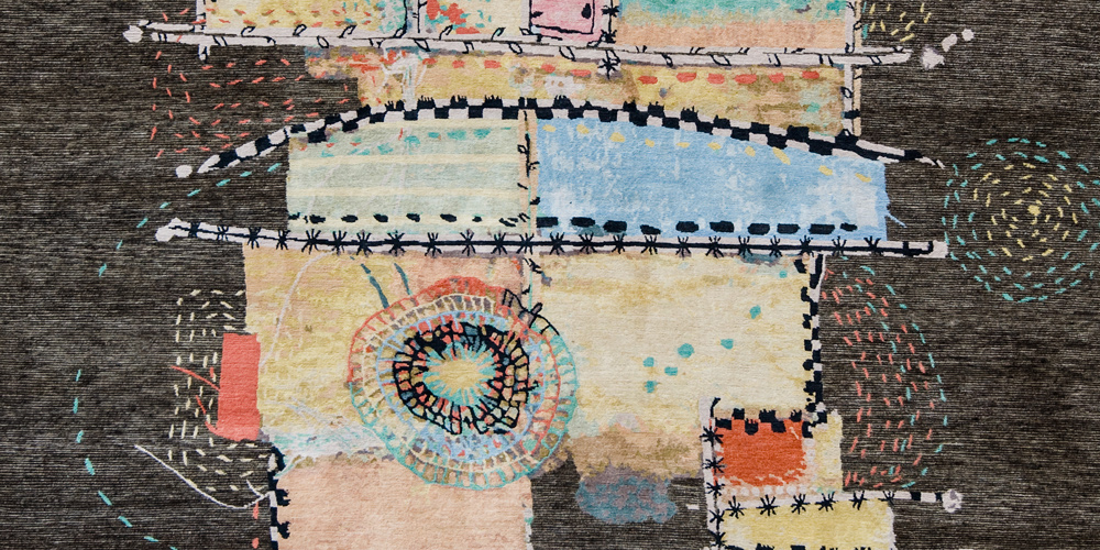 Happiness (detail), Wool & Silk Rugs