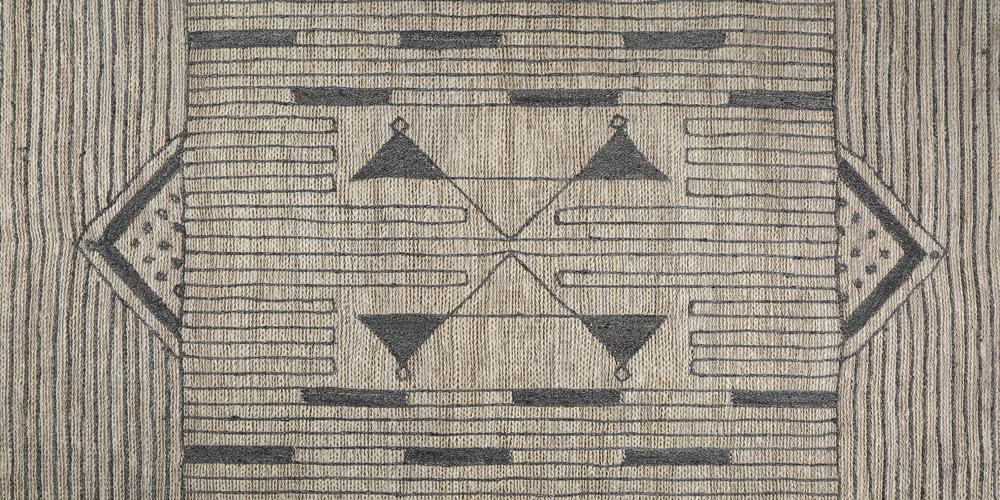 Shortlisted for Category 5: Best Flatweave Design: Tribal Jute Embroidered Rug (detail), Manglam