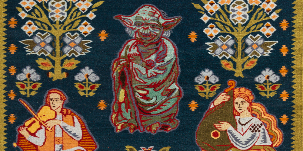 Ukrainian Jediism (Master Yoda Surrounded of Ukrainian Masters) (detail), OLK Manufactoryvskaya