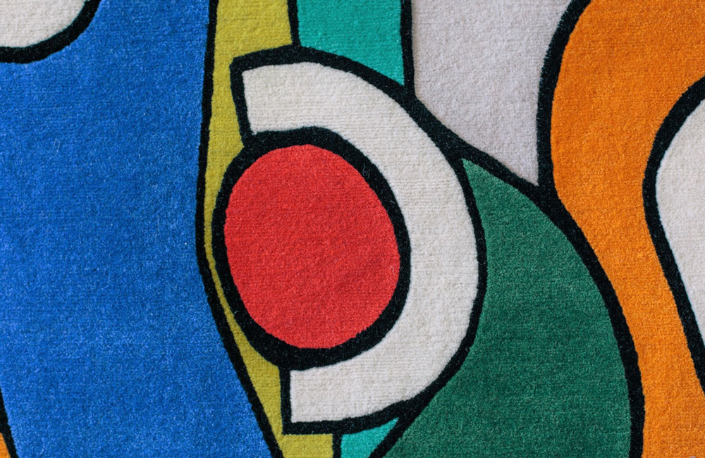 Colour shape music carpet (detail), Allistair Covell