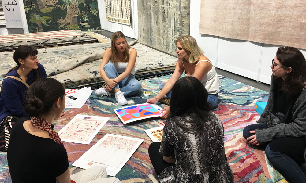 Textile students from FIT NYC, The Rug Show New York, Javits Center, 7-10 September 2019