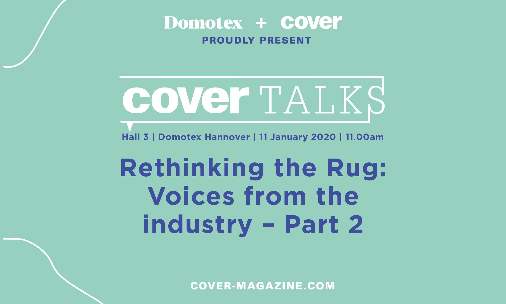 Rethinking the Rug: Voices from the industry — Part 2, Saturday 11 January, 11.00am