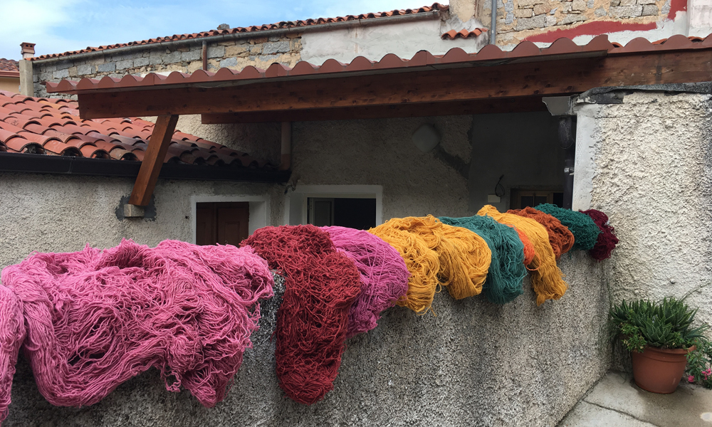 Wool outside Giovanna Chessa's home/showroom in Nule
