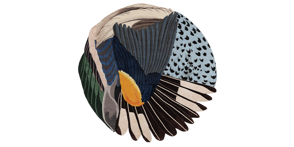 Shortlisted for Category 8: Best Modern Design Select: Feathers Round, cc-tapis