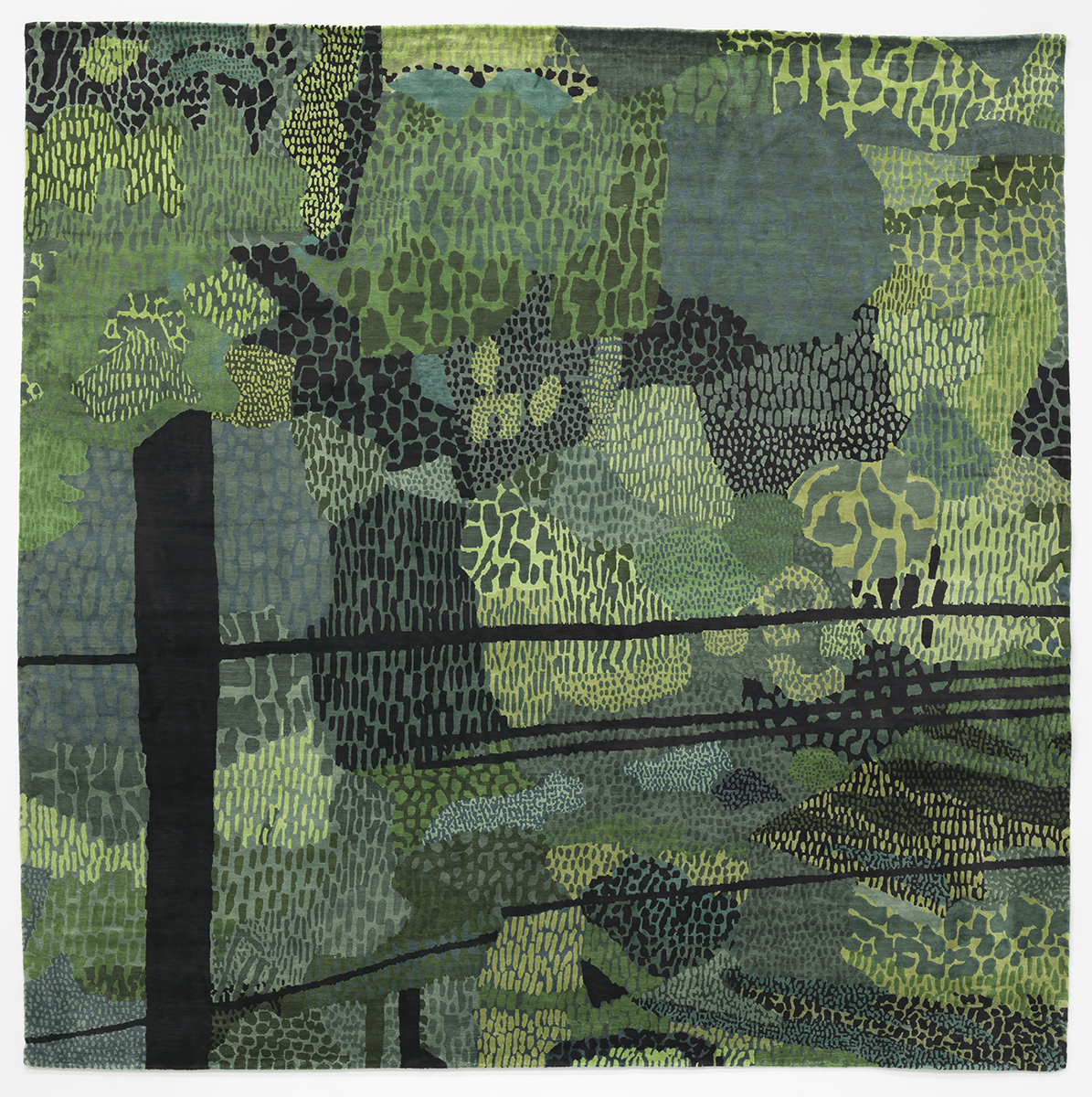 Green Pattern Rug, Jonas Wood for Bravin Lee