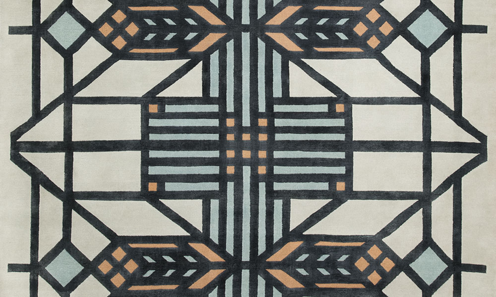 Detail of Lake Geneva Rug, Signature Series, Frank Lloyd Wright® Collection by Classic Rug Collection