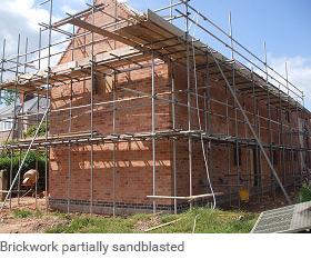 Sandblasting brickwork Services